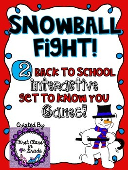 Back to School Snowball Fight (2 Ice-Breaker Games)