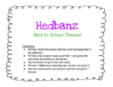 Back to School Social Distance Hedbanz Game