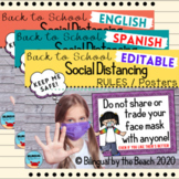 Back to School Social Distancing RULES   Posters l English