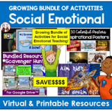 Back to School Social Emotional Teaching Growing Bundle