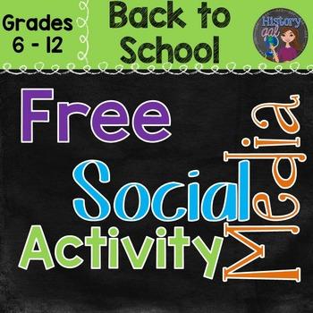 Back to School Social Media Activity