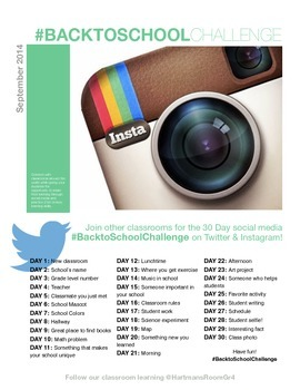 Back to School Social Media Challenge