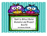Back to School Social Skills and Problem Solving