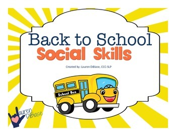 Back to School Social Skills!