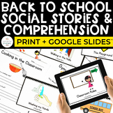 Back to School Social Stories and Comprehension