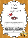 Back to School Social Story(s)- For Special Education and Autism