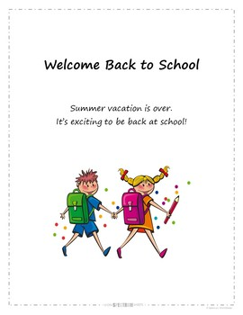 Back to School Social Story