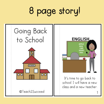 Back to School Social Story for Special Education
