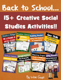 Back to School Social Studies Bundle of Activities