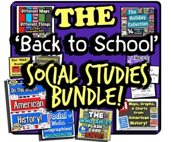 Back to School Social Studies Bundle! 11 Full Activities for Beginning of Year!