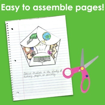 Back to School: Social Studies- Interactive Notebook Pages
