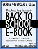 Back to School Social Studies & More eBook for Grades 7-12 (2015-16 school year)