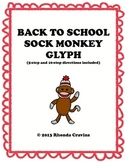 Back to School Sock Monkey Coloring Glyph