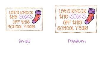 Back to School Sock Tags