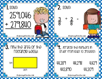 Back to School Solve The Room (or Scoot!) Math Task Cards