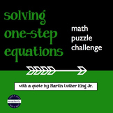 Solving One-Step Equations Quote Puzzle