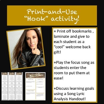 Back to School, Song Lyric Analysis, Goal Setting