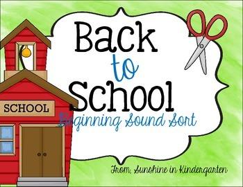 Back to School Sound Sort
