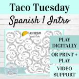 Back to School Spanish 1 Activity | Taco Tuesday Digital o