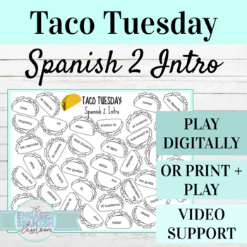 Back to School Spanish 2 Conjugation Game