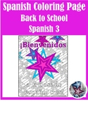 Back to School - Spanish 3 Adult Coloring Page