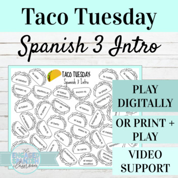 Back to School Spanish 3 Conjugation Game