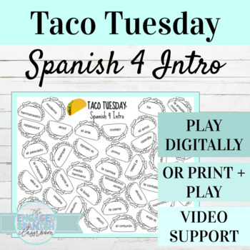 Back to School Spanish 4 Conjugation Game