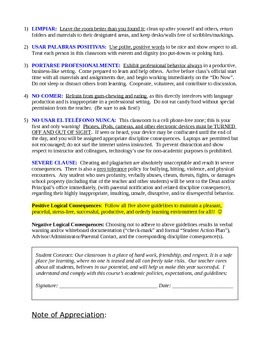 Course Description and Student Contract: Spanish 5 Senior Seminar