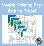 Back to School - Spanish Adult Coloring Page