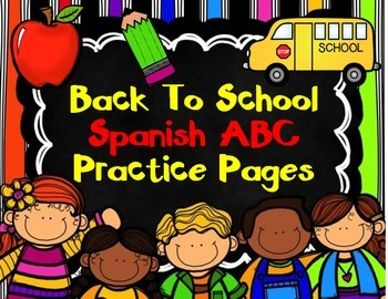 Spanish Alphabet Practice Pages