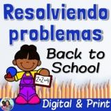 Spanish Word Problems Back to School | Bilingual | CGI | D