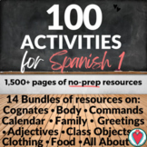 Beginning Spanish Bundle - 100 Spanish Games and Activitie