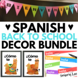 Back to School Spanish Classroom Decor BUNDLE