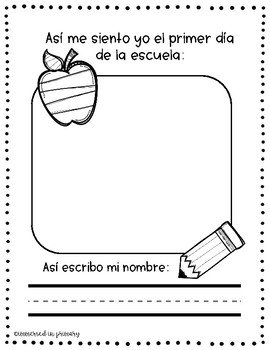 Back to School! Spanish Morning Work