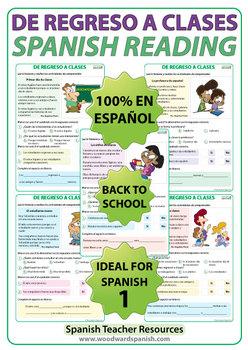 Back to School - Spanish Reading - De regreso a clases