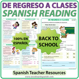 Back to School - Spanish Reading - De regreso a clases