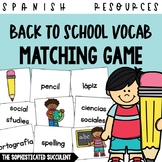 Back to School Spanish Vocabulary Matching Card Game