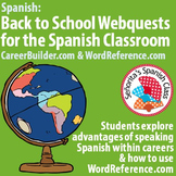 Back to School - Spanish Webquest BUNDLE! WordReference.com & CareerBuilder.com