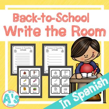 Back to School Spanish Word Hunt/Write the Room
