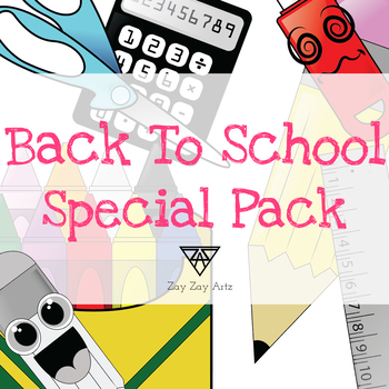 Back to School Special Clip Art Pack