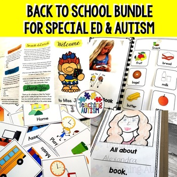 Back to School Special Education Bundle