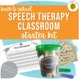 Back to School Speech Classroom Starter Kit