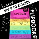 Back to School Speech Flipbook {EDITABLE}