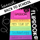 Back to School Speech Flipbook {EDITABLE}