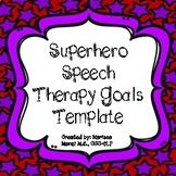 Back to School Speech Goals Activity