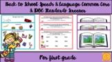Back to School Speech & Language Common Core & IDOE Standa