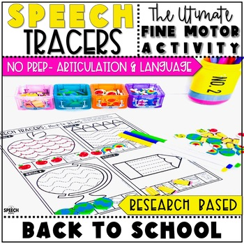 Back to School Speech Therapy Activity: Preschool Fine Motor