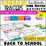 Back to School Speech Therapy Activity: Preschool Fine Motor Tracers