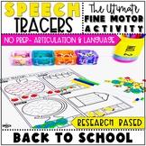 Back to School Speech Therapy Activity: Preschool Fine Motor Tracers