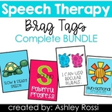 Speech Language Therapy Brag Tags COMPLETE BUNDLE